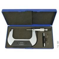 Elmag Precizni mikrometer 0-25mm odčitek 0,01mm, HM-merne konice, DIN 863